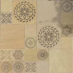 Mint Sandstone Medallion Designs 001