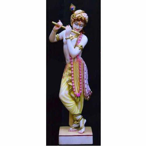 Marble Gwala Krishna Statue