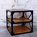 Industrial Bedside Table for Hotel Bedrooms and Resort Furniture