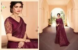 Vinay Fashion Party Wear Partywear Designer Silk Georgette Saree, Length: 6.3 m (with Blouse Piece)