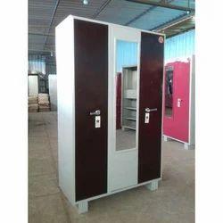 Triple Door Stainless Steel Cupboard