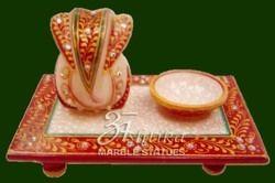 Marble Choki Ganesh Statue