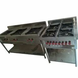 Silver Stainless Steel SS 4 Gas Burner