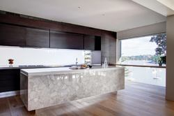 White Quartz Kitchen Iceland Counter