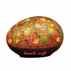 Multi Color Floral Pattern - Paper Mache Egg Box