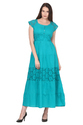 Pure Cotton Maxi Long Length Dress for Women
