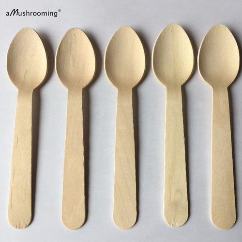 Disposable Wooden Spoon 14 Cm