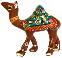 Metal Meenakari Handicrafts Camel Statue Handmade Enamel Work Figurine Decorative Showpiece
