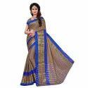 Ladies Poly Cotton Jacquard Silk Saree