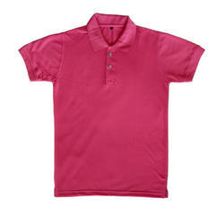 Mags Pink plain cotton polo t shirt