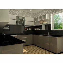 U Shape Modular Kitchen In Lucknow Uttar Pradesh India IndiaMART - Modular Kitchen U Shaped Design