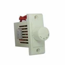 Polycarbonate White 4 Step Fan Regulator, 220 V