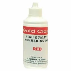 Gold Class 500 ml Red Numbering Ink
