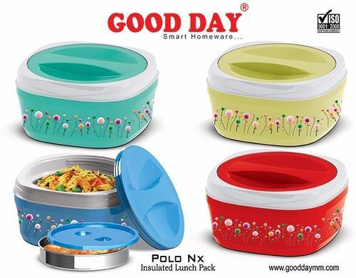 Goodday All Color Polo Nx Lunch Boxes, Shape: Square