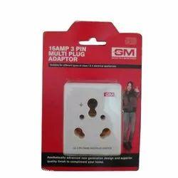 White Multi Plug Adapter