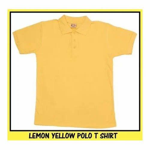 8844f234 Cotton Mens Lemon Yellow Polo T Shirt, Rs 220 /piece, RSM Uniforms ...