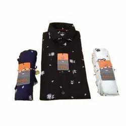 Kanzzo Long Sleeve Men Formal Printed Cotton Shirt, Size: S-4XL