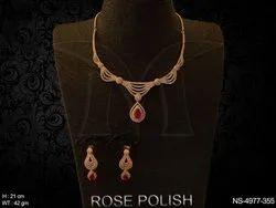 Delicate American Diamond Necklace Set