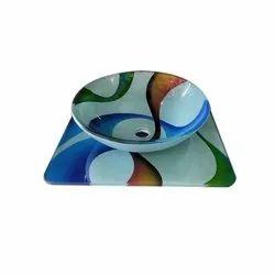 Glass Counter Top Bowl Platform Wash Basin