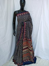 Hand Printed Cotton Saree