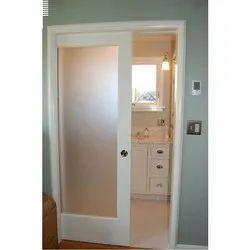 Polished Sliding Decorative PVC Glass Door, Interior
