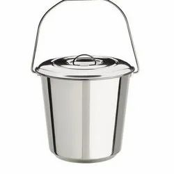 Stainless Steel Pail Bucket With Cover