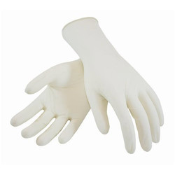 Latex White Powdered Examination Gloves, Packaging Type: Paper Box