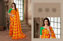 PR Fashion Launched Beautiful Checks Printed Saree