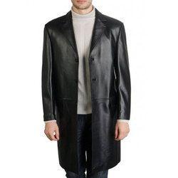 Mens Long Leather Coat