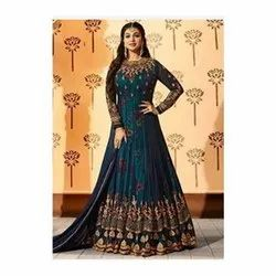 Ladies Attractive Georgette Embroidered Dress Material With Dupatta