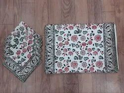 Cotton Hand Block Print Table Mats & Napkin