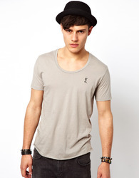 Men's Cotton Scoop Neck T-Shirt, Size: S-XL