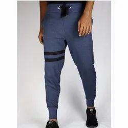 Cotton/Linen Black Men Gym Jogger Pant