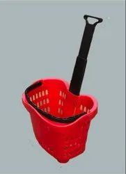 Plastic Shopping Trolley (Apple)