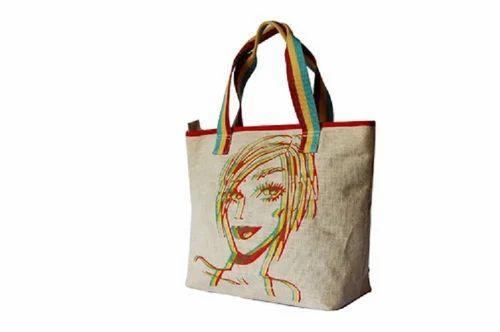 e371c95a103c KBK Jute Fancy Beach Bag