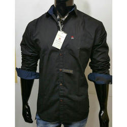 Long Sleeve Cotton Mens Plain Casual Shirts