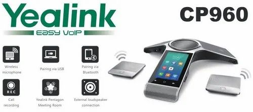 Yealink CP960 Android IP Conference Phone with 2x CPW90 Wireless
