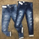 Mens Ripped Cotton Jeans