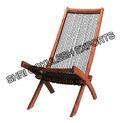 Sge Natural Wood Folding Wood Deck Chair