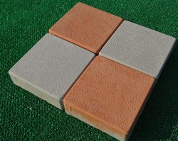 Grey, Orange Concrete Square Interlocking Pavers, Thickness: 60mm, Size: 200x200mm