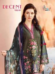 Shree Fab Decent Vol No-7 Embroidery Pakistani Salwar Kameez