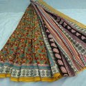 Kalamkari Block Cotton Sarees