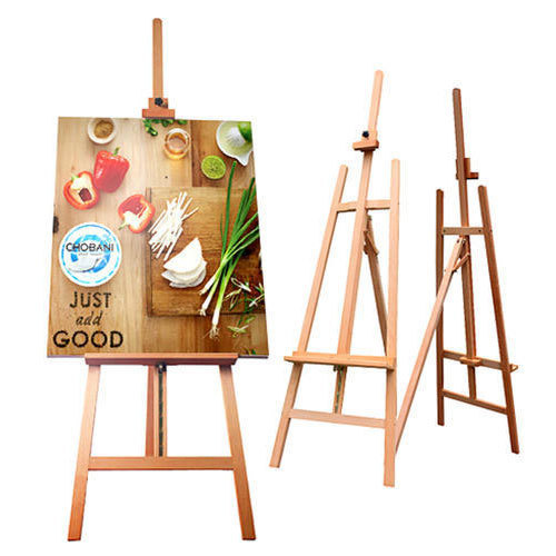 wooden easel stand size dimension 5 ft rs 1150 piece print zone