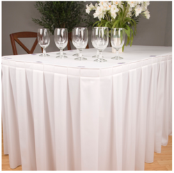 White Table Frills And Skirts
