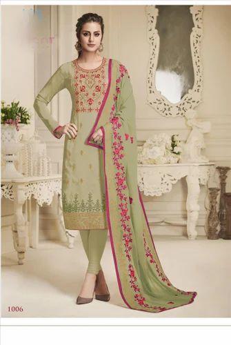 f2602f4c25 Saree Exotica Designer Partywear Pure Upada Silk Straight Salwar Suit