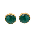 Handmade Gold Fillgree Designable Bezel Gold Micron Plated Earring Stud