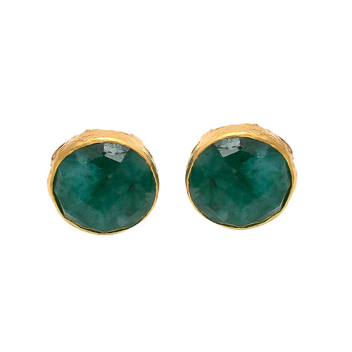 01186c343 The Indianna Jewellers Sterling Silver Handmade Gold Fillgree Designable  Bezel Gold Micron Plated Earring Stud,