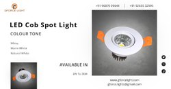 Aluminium LED COB Spot Light, Lighting Color: Pure White, 5W-7W-9W-12W-15W