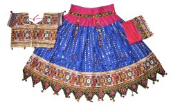 Gujarati Traditional Foil Mirror Work Ghagra Choli