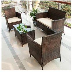 Lawn Rattan Sofa Set
